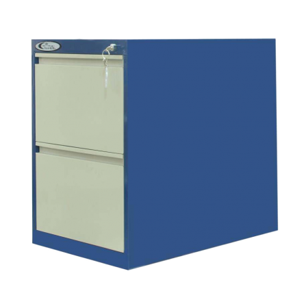 2-Drawer Filing Cabinet-Recessed Handle