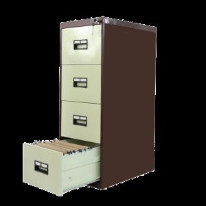 4 Drawer Filing Cabinet Recessed Handle Sunrise Trade