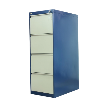4-Drawer Filing Cabinet-Recessed Handle